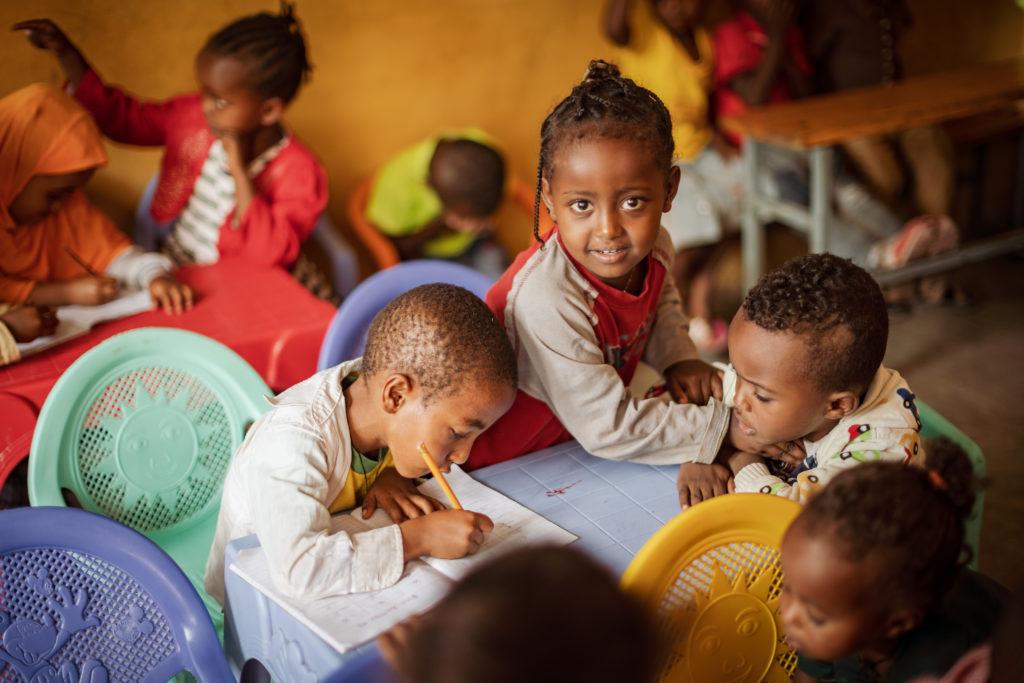 KinderNotHilfe in Äthiopien, Christina Rau besucht Projekte / SHGs der Kindernothilfe am Dienstag 06.03.2019 in Adama. Foto: Jakob Studnar